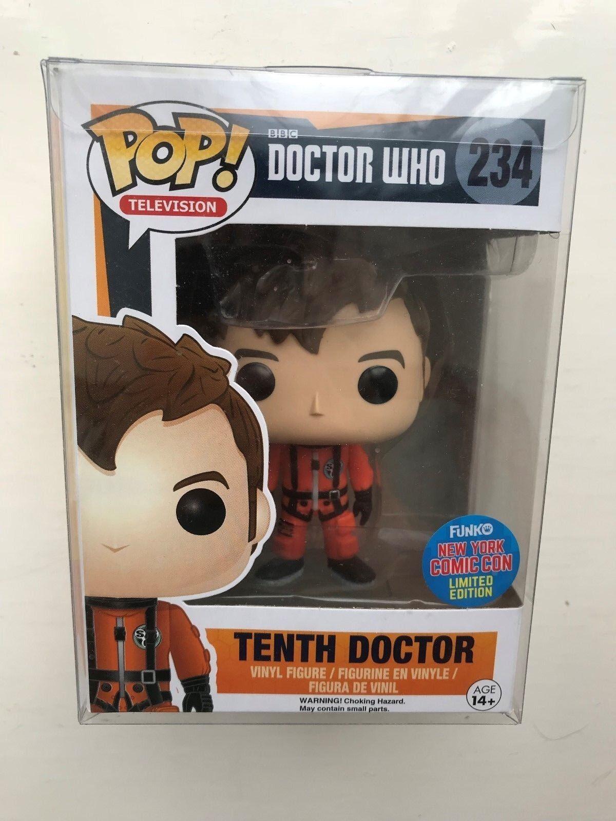 In scatola FUNKO POP VINYL BBC Doctor Who Decimo Dottore  234 Figura esclusiva Glow
