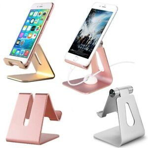 Alum Cell Phone Stand Tablet Desk Table Holder Cradle Dock for iPhone Samsung