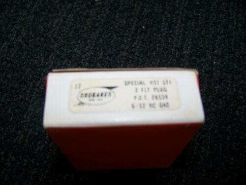 Details about  /Brubaker 3 Flute Plug Tap Special HS1 STI 6-32 NC GH2 PDT 26039 12 ea New