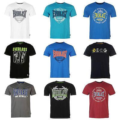Everlast Mens T shirt Designer Crew Casual Fashion Sports Shirt Top S M L XL XXL
