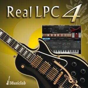 new musiclab reallpc 4 virtual instrument guitar les paul mac pc vst aax au ebay. Black Bedroom Furniture Sets. Home Design Ideas