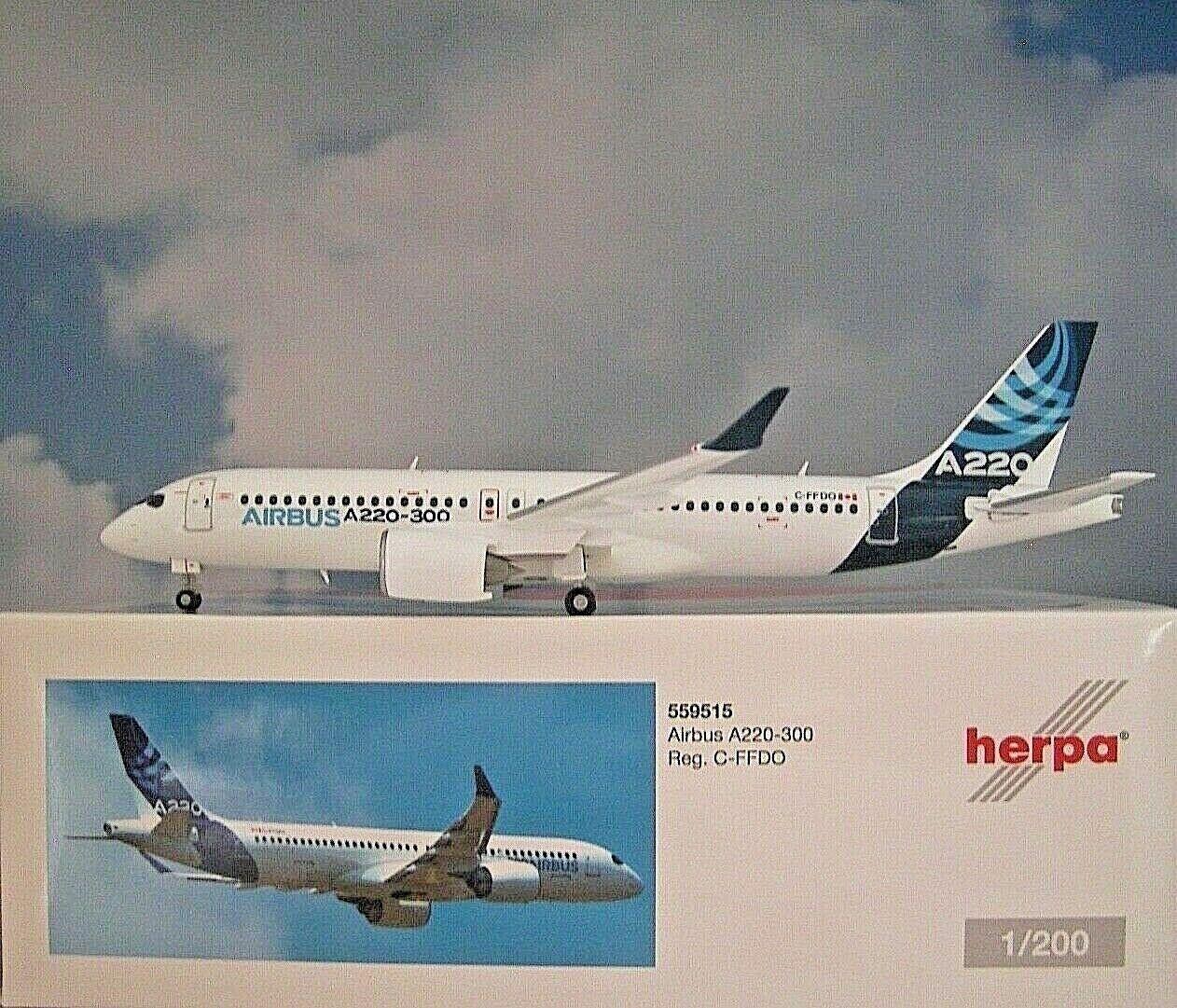 Herpa Wings1 200 Airbus A220-300 Airbus Industria C-Ffdo 559515