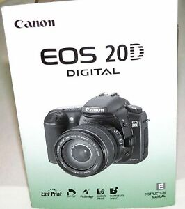 2004 canon eos rebel 20d digital slr camera owners instruction rh ebay com Canon EOS 50D Canon EOS Digital