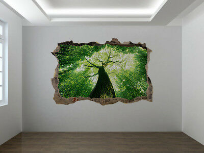 11282679ww Stunning forest with sunshine in spring window wall sticker mural