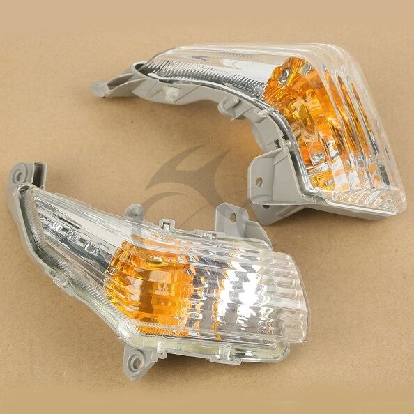 Clear Front Turn Signals Indicator Blinker Lens For Suzuki GSR 400 600 2006-2012