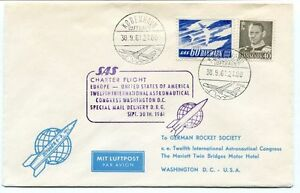 1961 Sas Charter Flight Europe United States America Congress Washington Space Convient Aux Hommes, Femmes Et Enfants