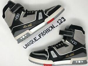 Louis-Vuitton-x-Virgil-abloh-LV-Trainer-Boot-US-9-5-UK-9-43-nero-del-cemento-1A54IT
