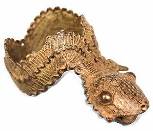 Gan Ritual Bronzo Bracelet Cult - Arte Africano Gioiello tribal - Alta Qualità