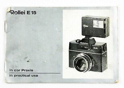 Rollei E15 B In Practical Use Manual Instruction Book Genuine Original
