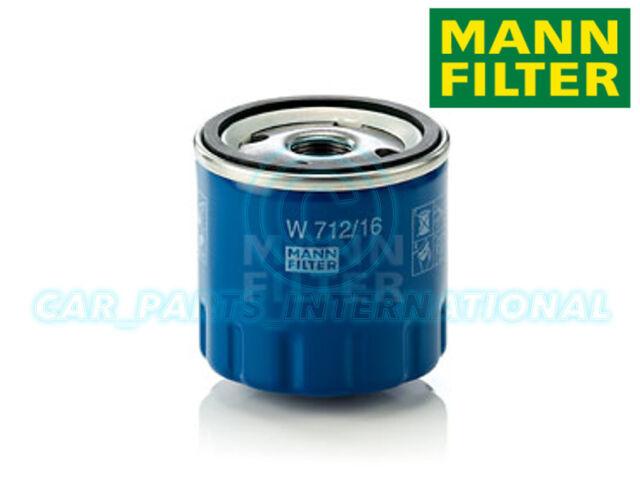 Mann Hummel Repuesto de Calidad OE Filtro de Aceite Del Motor W 712/16