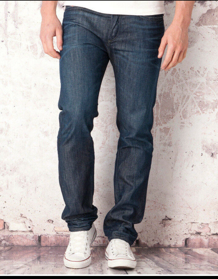 Diesel Buster Men Jeans 34 W x 32 Wash 842N Regular Slim Tapered New with  Tags