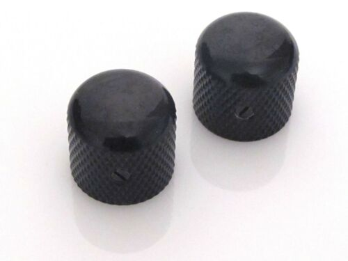 Black Dome Knobs for Electric Guitar and Bass