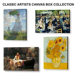CLASSIC-ARTISTS-POPULAR-CANVAS-BOX-COLLECTION-4-X-20-034-x-16-034-Canvases-A2