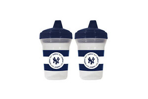 NEW YORK YANKEES BABY 2 PACK SIPPY CUP NEW & OFFICIALLY LICENSED BPA FREE