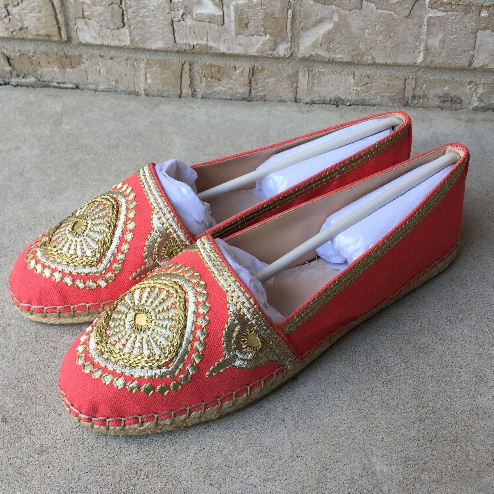 NWB Vince Camuto Dayna Flat Coral EmbroideROT Espadrilles Schuhes Damenschuhe Größe 10 M