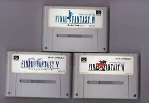 Nintendo-Super-Famicom-Final-Fantasy-IV-V-VI-set-FF-4-5-6-Japan-SFC