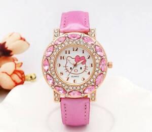 307ccf3da Image is loading Lovely-Hello-Kitty-Watch-Children-Girls-Women-Fashion-