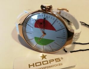 Damenuhr-Reifen-glam-Rosagold-Uhrenarmband-Silikon-L-35-mm-Herz-tricolor