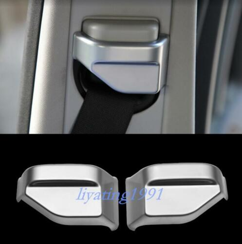 Chrome Seat Safety Belt Button Cover Trim For Mercedes-Benz GLE W166 2015-2018