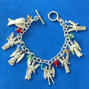 Image Is Loading Custom 7 Archangels Charm Bracelet Multi Color Stainless