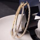 Fashion Women Lady Crystal Rhinestone Large Hoop Round Dangle Earrings Jewelry
