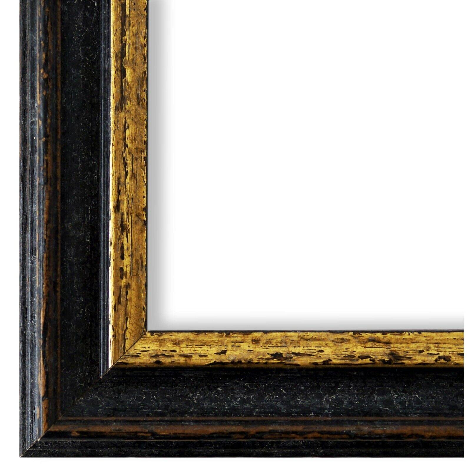 Bilderrahmen Forli Schwarz Gold - 80x80 80x90 80x100 80x120 90x90 90x100 100x100