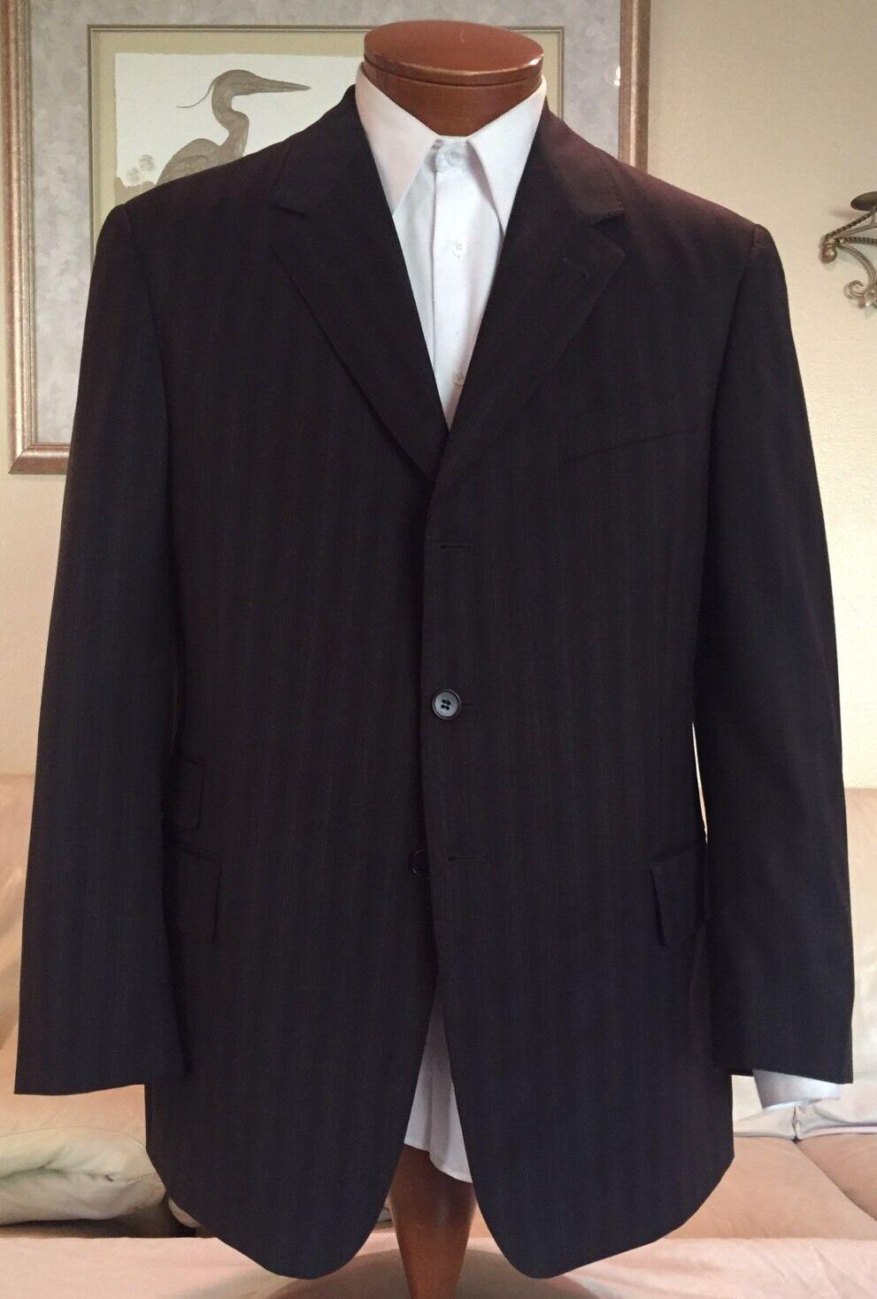 Paul Smith  Herren Braun Stripe Wool Dual Vent Suit Größe 42 R Excellent