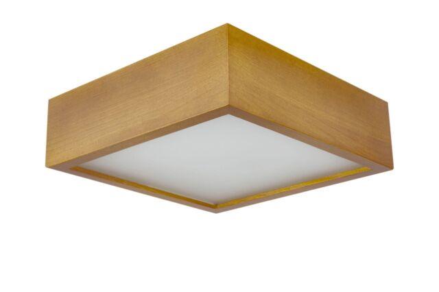 Eiche Hell 265 Quadro E27 Deckenleuchte Deckenlampe Holz Glas
