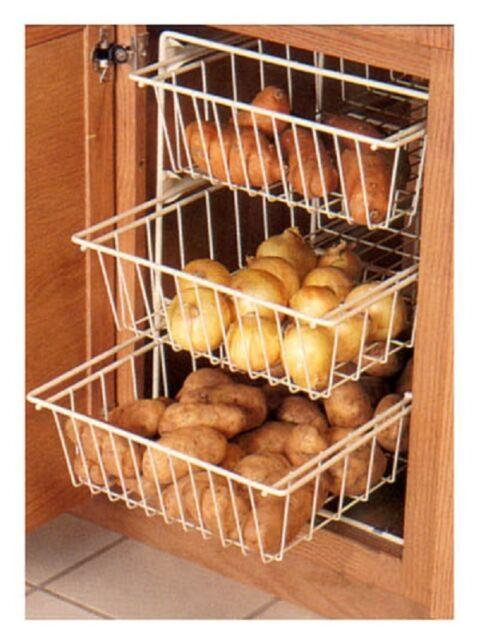 Kv Three Tier Vegetable Bin Basket System 3 Baskets Set Fevba 143wh