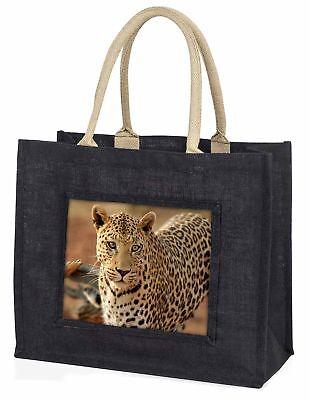 Leopard große schwarze Einkaufstasche Weihnachten Geschenkidee, at-5blb