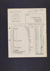 Lipsia, fattura 1921, Hermann Körber & Co. PIPE articoli FUMATORI