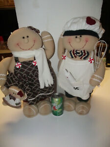 TWO-20-034-GINGERBREAD-PLUSH-Statue-Characters-Williams-Sonoma-Chef-Man