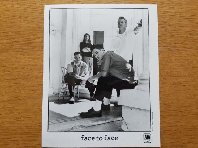 FACE TO FACE 8x10 BLACK & WHITE Press Photo Promo Promotional 1990's PUNK