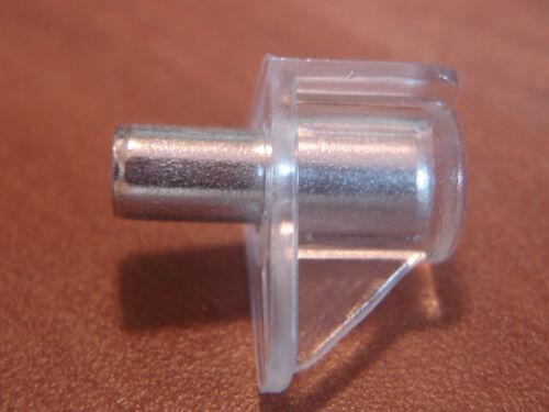 100 Stück Bodenträger Regalträger transparent glasklar Ø 5 mm Glasbodenträger !