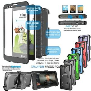 promo code b4f80 2eee6 Details about For LG G Stylo 2/Stylus 2 Armor Refined Phone Cover Belt Clip  Holster Hard Case
