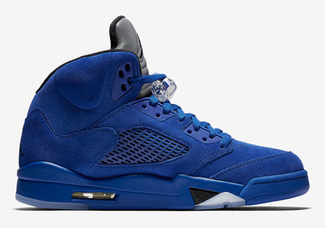 4b5c088416591f Nike Air Jordan Retro 5 Blue Suede Sz 11 DS 100 Authentic for sale ...