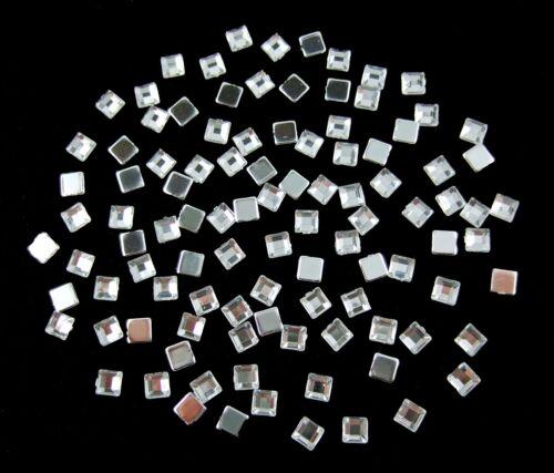 Schmucksteine// Glitzersteine Quadrate 4 mm silber