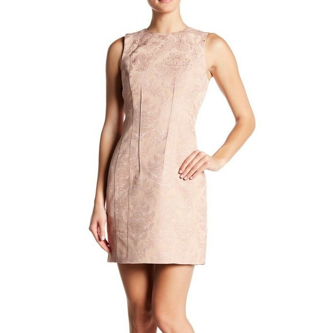 Theory Hourglass Woherren Dress Größe 4 Chalk Rosa Baroque Jacquard