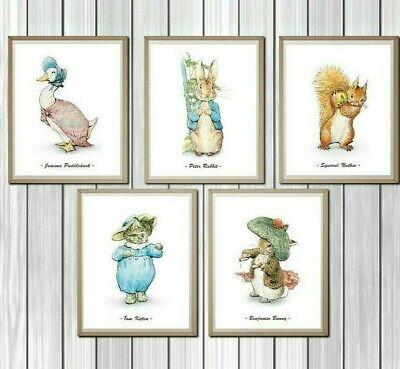 Peter Rabbit Nursery Prints Set Of 5