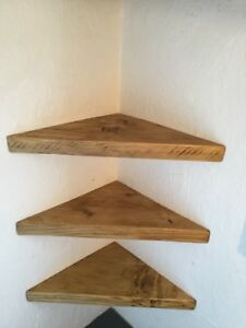 Astonishing Details About 3X Reclaimed Scaffold Board Corner Shelves Wooden Industrial Rustic Wood Shelf Download Free Architecture Designs Itiscsunscenecom