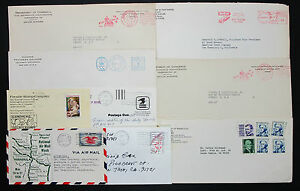 US-Postage-Set-of-9-Stamps-Covers-Letter-Envelope-Adv-Lupo-USA-Letter-H-7484