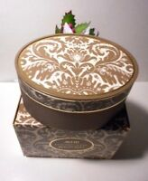 Vintage Avon Brocade Beauty Dust Boxed 6oz. With Large Body Puff