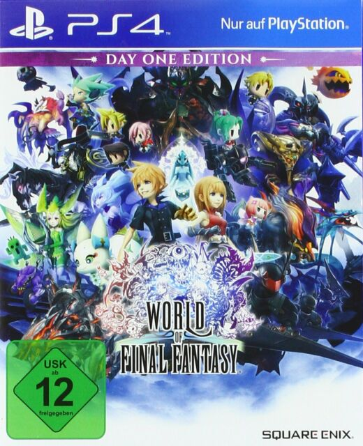 PS4 Game World of Final Fantasy Day One Edition New
