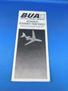 BUA-BRITISH-UNITED-AIRWAYS-ADVANCE-SUMMER-TIMETABLE-1970-AIRLINE-ADVERTISING
