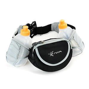 2 Water Bottles Holder Drinks Running Jogging Cycling Belt Bag Storage Pockets