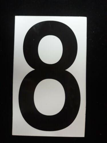 "25-5/"" Sticker Decal Vinyl Adhesive Address Numbers Black /& White No.8 USA MADE"