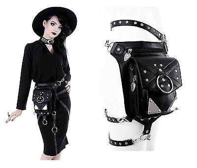 Restyle Tasche Holster Gürtel Nugoth Eyelets Steampunk Gothic Pocket Belt Bag