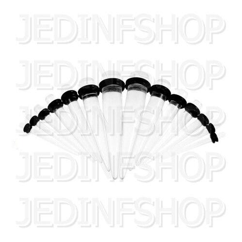 Lóbulo oreja forma cónica camilla-o-ring Straight1.6mm-10mmAcrílico Transparente