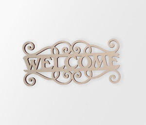 """Wooden Sign """"Welcome"""" - Cutout, Home Decor, Unfinished and Available"""