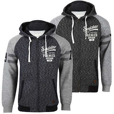 Soulstar Designer Zip Hoodie Revolution Hooded Sweatshirt Top  Mens Size
